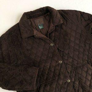 Ralph Lauren Quilted Faux Suede Equestrian Coat 1X